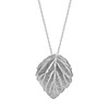 Silver Mulberry Leaf Necklace