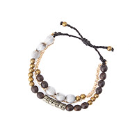 Gilded Amazon Three Strand Bracelet