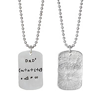 Dad Equation Necklace