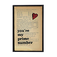 You're My Prime Number Vintage Print