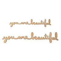 You Are Beautiful Cursive Wood