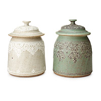 Lace Patterned Canister