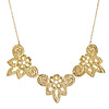 Finial Gold Dipped Lace Necklace