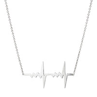 Amour Tiny Double Heartbeat Necklace