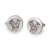 Custom Pet Portrait Cufflinks