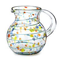 Recycled Confetti Glass Pitcher