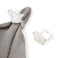 CRYSTAL NAPKIN RINGS - SET OF 2