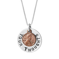 A Penny For Your Thoughts Necklace