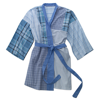 RECYCLED DRESS SHIRT ROBE