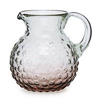 Hobnail Glass Ombre Pitcher