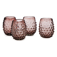 Hobnail Wine Glasses - Set of 4