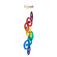 Recycled Glass Rainbow Spiral Wind Chime
