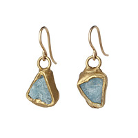 Aquamarine Ebb and Flow Earrings