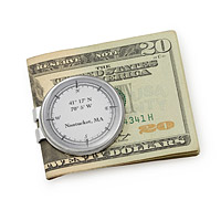Custom Latitude Longitude Money Clip