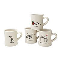 Bad Dog Holiday Diner Mugs - Set of 4