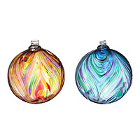 Recycled Glass Feather Globes