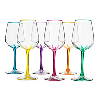 Flower Stemmed Wine Glasses - Set of 6