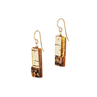 Gilded Bark Earrings