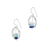 Sea Glass Orbit Earrings