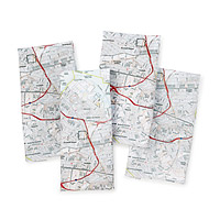 Personalized Mapkins - Set of 4