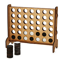 Wooden Four-Across Game